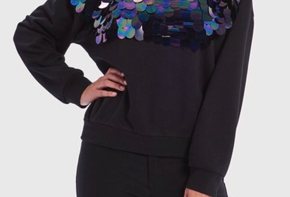 HATTIE Sequin Long Sleeve Sweatshirt