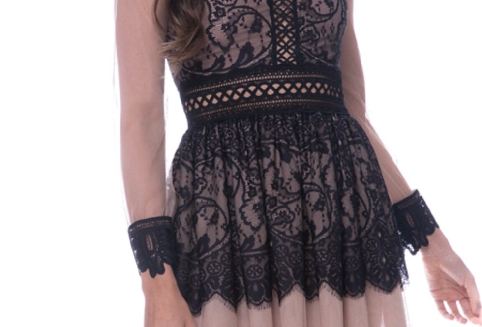 FIT AND FLARED LANCE DRESS