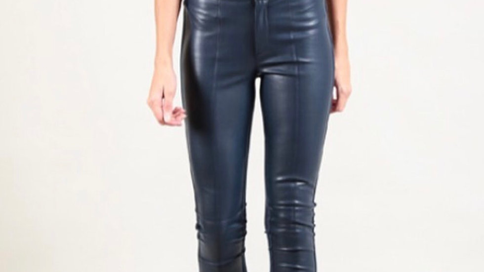 NELL - BLACK LEATHER EFFECT JEGGINGS