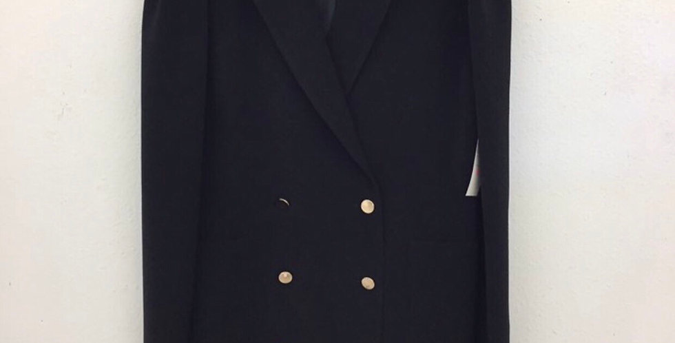 BLAZER DRESS WITH POPLIN SHIRTING CHOKER