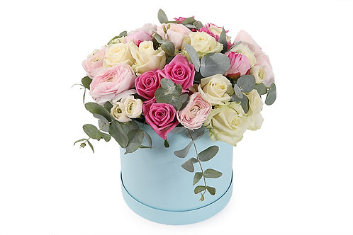 Serene Mixed Rose Bouquet