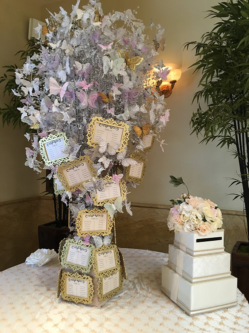 3' Pink and Lilac Butterfly Tree Prop