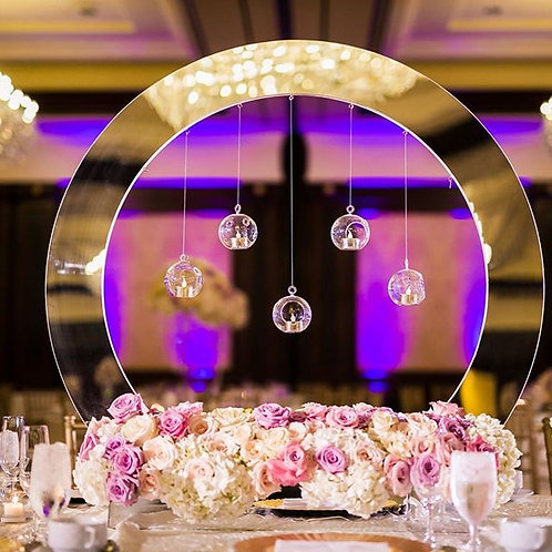 Moon Mirrored Centerpiece Display