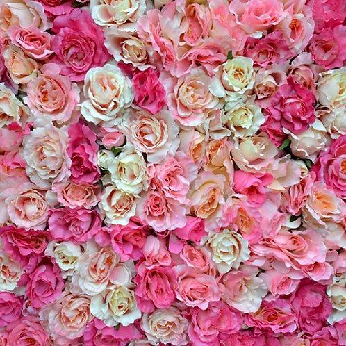 Premium Faux Flower Wall Backdrop in Pink