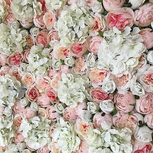 Pink Blush Flower Wall