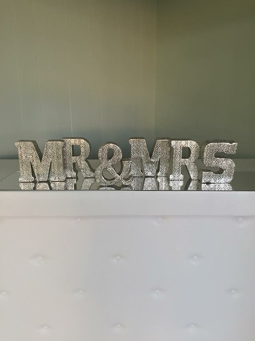 Silver MR & MRS letters