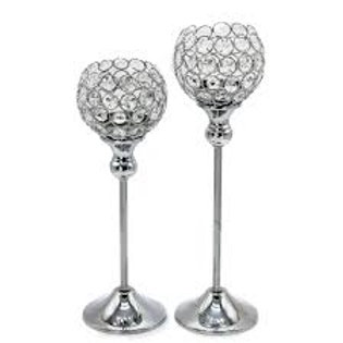Crystal Tealight Candlesticks - in 3 sizes