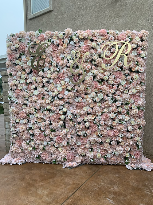 8x8 Blush Flower Wall Backdrop