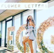 EGGIE Brand Flower Letters