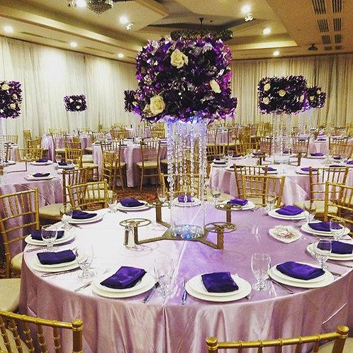 Purple Foil Lampshade Centerpiece
