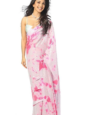 Kiara Advani Georgette PinK Saree