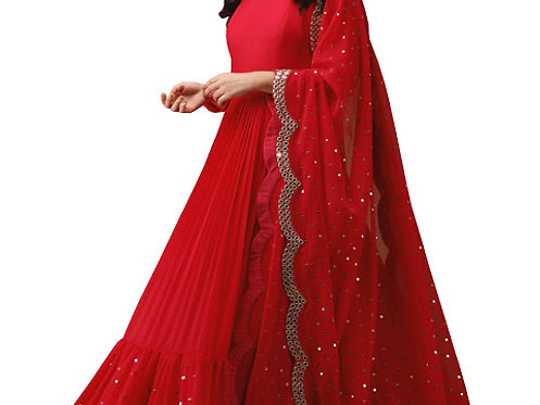 Buy Georgette Red Replica Gown