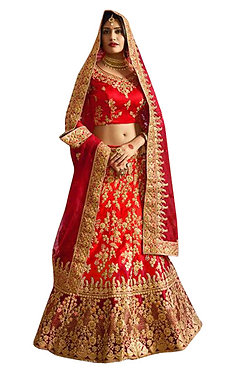Anika Banglori Silk Red Replica Lehenga Choli