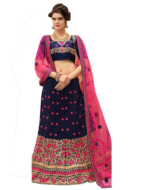 latest collection, blue lehenga choli, embroidery work, high quality, bride collection, under 3000