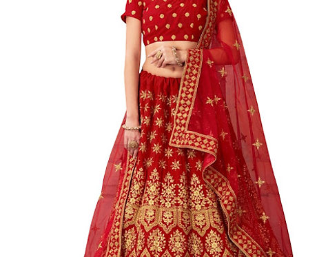 Buy 9000 Velvet Red Heavy Lehenga Choli