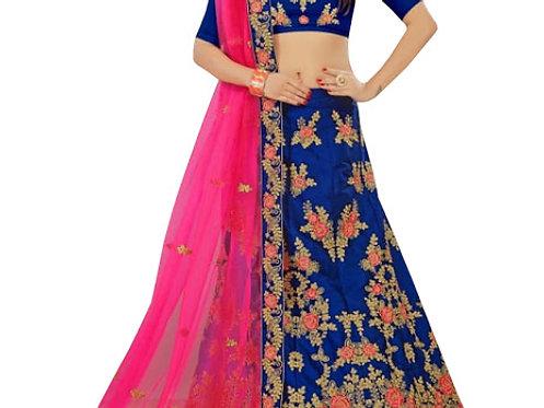 Buy Silk Blue Heavy Lehenga Choli