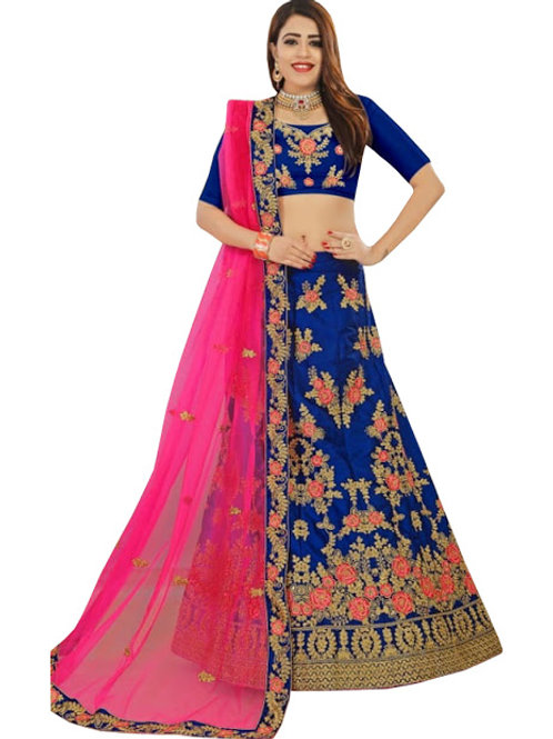 Silk Lahengha Choli, Silk Blouse, Net Dupatta,Latest, Exclusive, New, Stylish, Looking good, Bridal, Designer