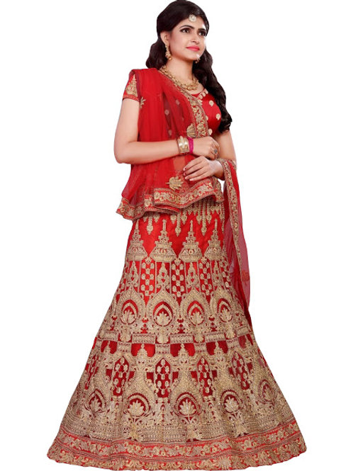latest collection, red lehenga choli, embroidery work, high quality, bride collection, under 3000