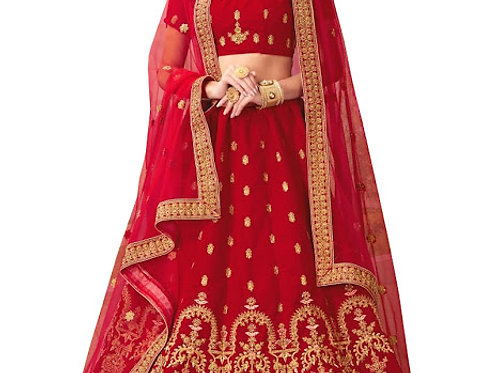 New 9000 Velvet Red Heavy Lehenga Choli