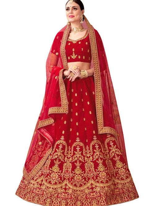 Velvet Lahenga Choli, Velvet Blouse, Net Dupatta, Latest, Exclusive, New, Stylish, Looking good, Bridal, Designer