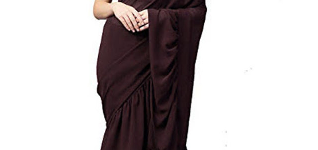 New Georgette Brown Fancy Replica Saree