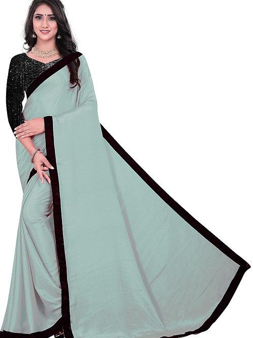 new collection, gray saree, new arrival, plain saree, plain blouse, black blouse, casual saree, party saree