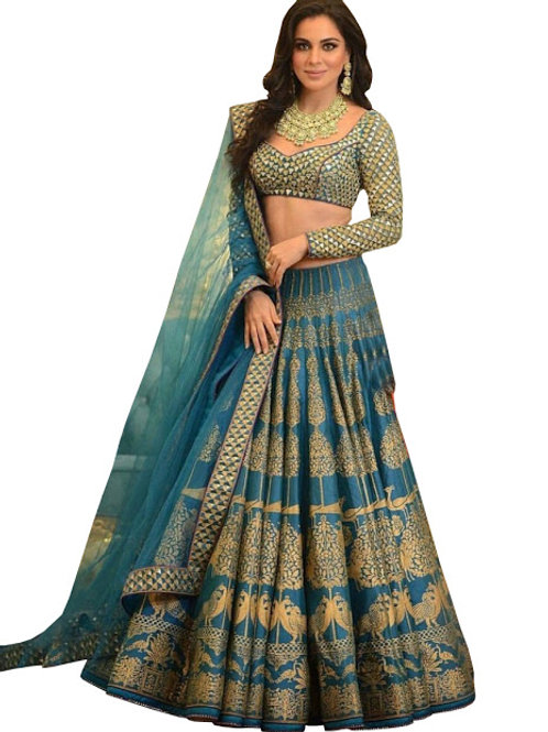 Silk Lahenga Choli, Silk Blouse, Net Dupatta, Latest, Exclusive, New, Stylish, Looking good, Bridal, Designer