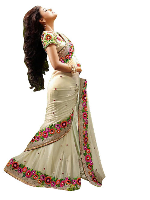 new collection, white saree, lace work, embroidery work, white blouse, party wear, under 1500,