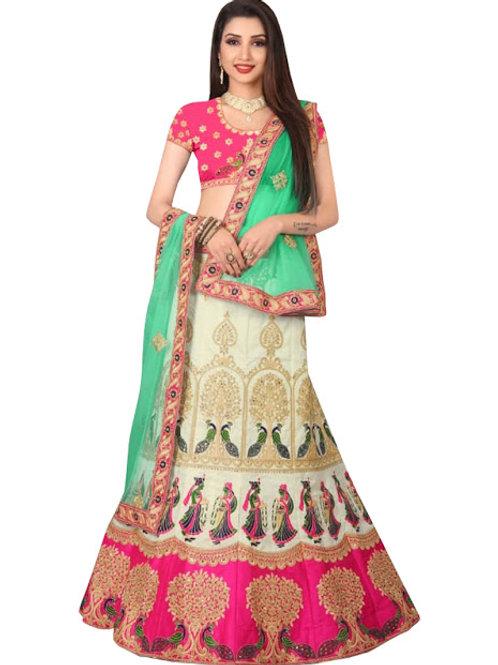 Banglori Silk Lahenga choli, Silk Blouse, Net Dupatta, Latest, Exclusive, New, Stylish, Looking good, Bridal, Designer
