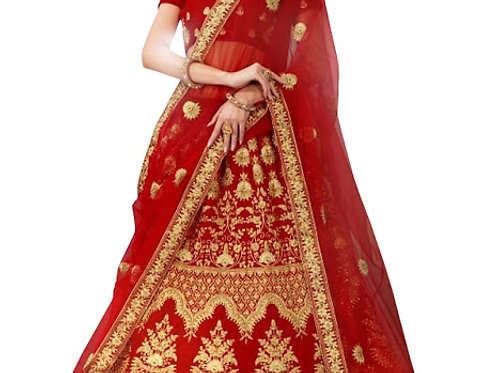 Latest 9000 Velvet Red Heavy Lehenga Choli