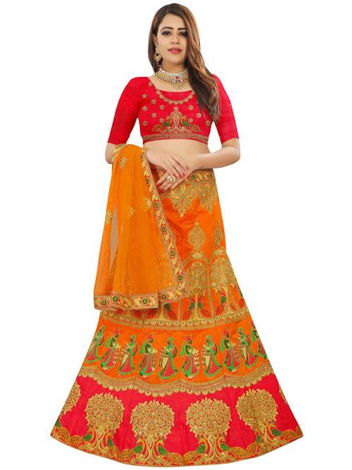 Bangalori Silk Lahengas, Silk Blouse, Net Dupatta,Latest, Exclusive, New, Stylish, Looking good, Bridal, Designer