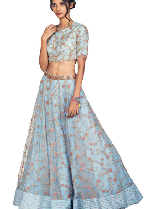 Net Lahengas, Silk Blouse, Latest, Exclusive, New, Stylish, Looking good, Bridal, Designer, Embroidered