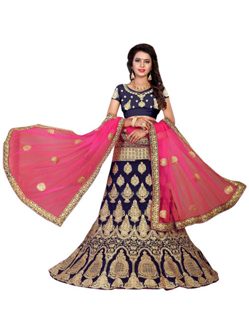 latest collection, blue lehenga choli, embroidery work, high quality, bride collection, under 3500