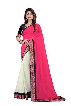 Buy Georgette Multicolor Bollywood Replica Saree