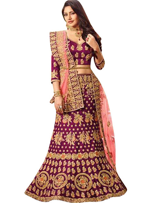Anika Banglori Silk Purple Replica Lehenga Choli