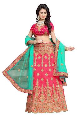 Buy Banglori Silk Gajari Heavy Lehenga Choli
