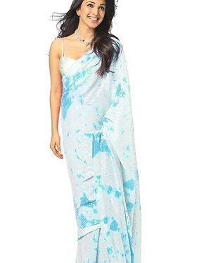 Kiara Advani Georgette Blue Saree