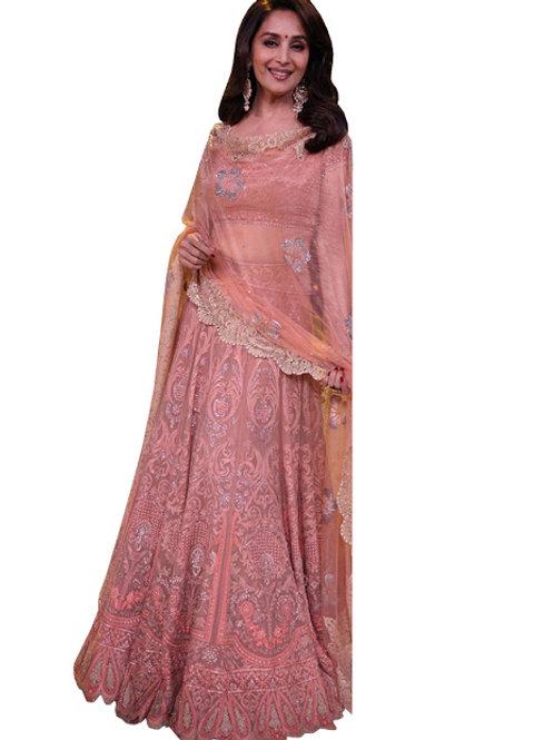 Net Lahenga Choli, Silk Blouse, Net Dupatta, Latest, Exclusive, New, Stylish, Looking good, Bridal, Designer