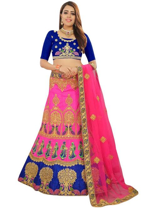 Banglori Silk Lahengas, Silk Blouse, Net Dupatta,Latest, Exclusive, New, Stylish, Looking good, Bridal, Designer