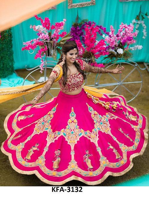 Buy Malabary Silk PinK Lehenga Choli
