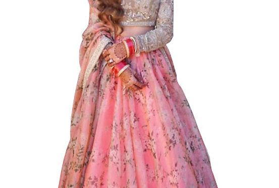 Buy Silk Pink Heavy Replica Lehenga Choli