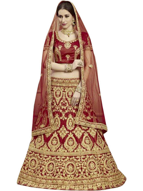 latest collection, maroon lehenga choli, embroidery work, high quality, bride collection, under 3000