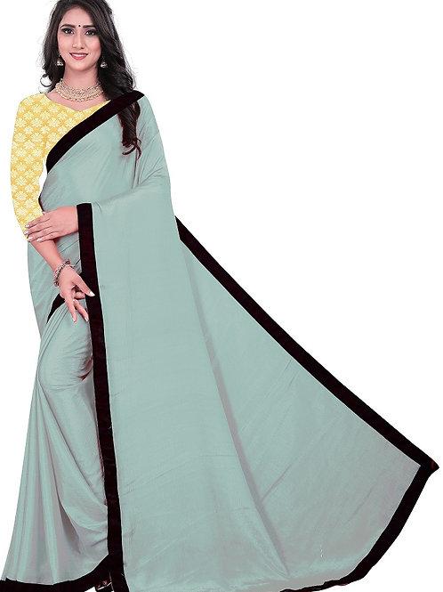 new collection, new arrival, light pink saree, plain saree, silver blouse, casual saree, plain blouse, lace work, under500