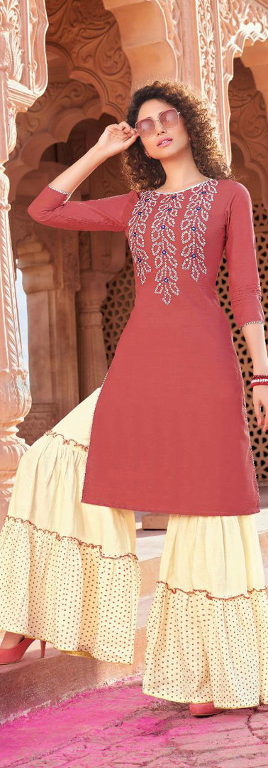Kaavi Fab Traditional And Ethnic Classy Bandhni Print Kurti With Plazzo