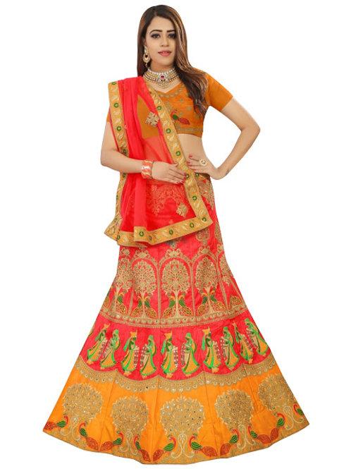 Bangalori Silk Lahengas, Silk Blouse, Net Dupatta, Latest, Exclusive, New, Stylish, Looking good, Bridal, Designer