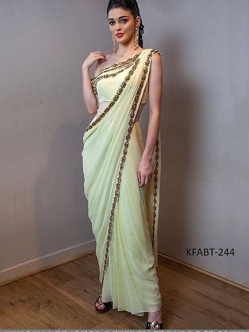 latest saree, plain saree, heavy lace work, Bollywood saree, replica, white saree, banglory silk blouse