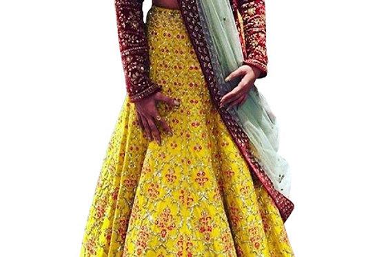 Buy Banglori Silk Multicolor Replica Lehenga Choli