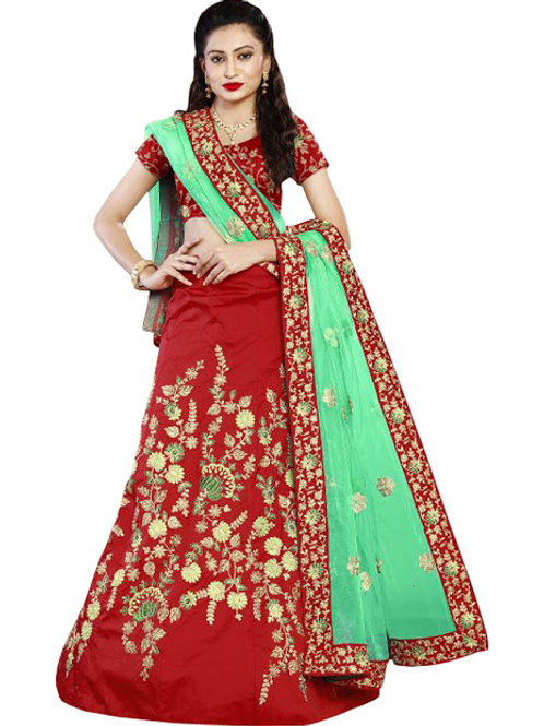 designer latest collection, red lehenga choli, embroidery work, high quality, bride collection, under 2500