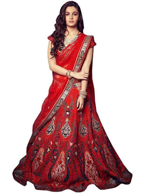 Designer replica latest collection alia bhatt,blue lehenga choli,embroidery work, high quality, bride collection, under 2500