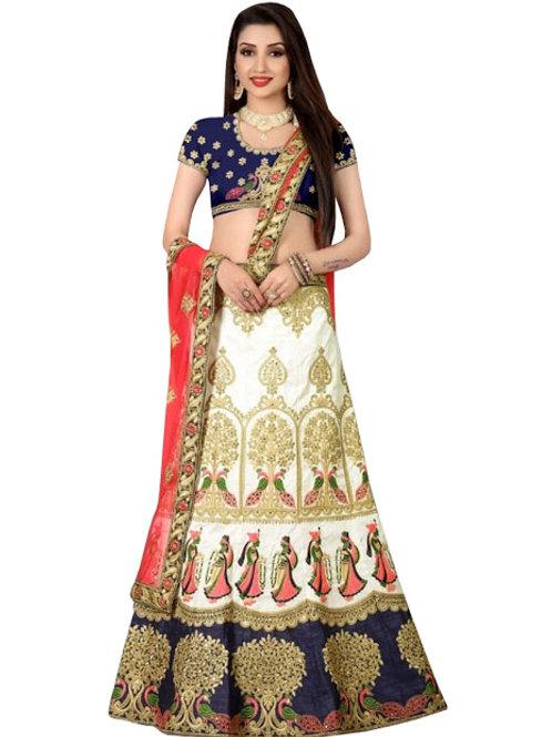 Silk Lahenga Choli, Silk Blouse, Net Dupatta, Latest, Exclusive, New, Stylish, Looking good, Bridal, Designer